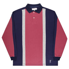 Orleans Longsleeve Polo (Rose/Indigo/Athletic Grey)