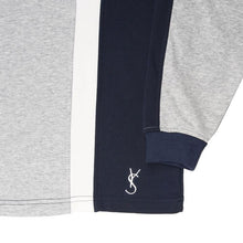 Orleans Longsleeve Polo (Athletic Grey/Navy/White)