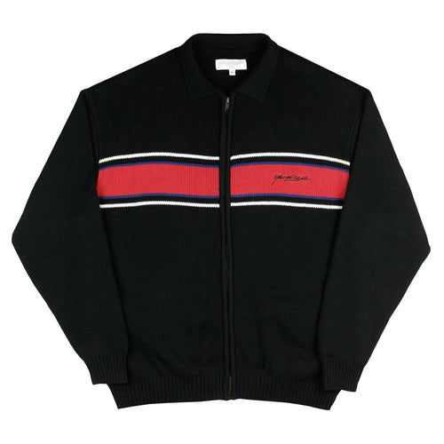 Sorrento Knit Full Zip (Black/Cardinal)