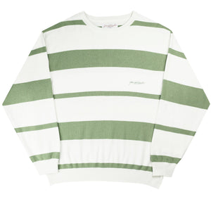 Val Knit Crewneck (Fern/White)