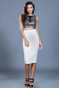 Classic White Pencil Skirt