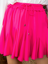 Load image into Gallery viewer, Hot Pink Ruffle Skort