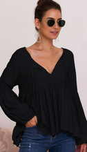 Load image into Gallery viewer, Julia long sleeve top in Black
