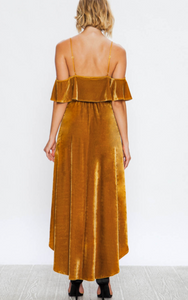 Golden Dreams Hi-low Velvet Dress