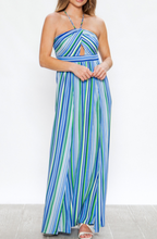 Load image into Gallery viewer, Spring Multi-Stripe Maxi Dress