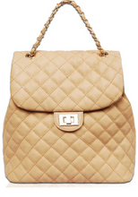 Load image into Gallery viewer, Quilted Dreams Backpack - Beige