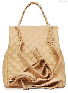Quilted Dreams Backpack - Beige