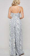 Load image into Gallery viewer, Geo Print Slit Jumpsuit