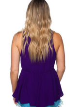 Load image into Gallery viewer, BuddyLove: Purple Tie Top