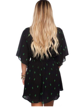 Load image into Gallery viewer, Buddylove: Black Cactus tie Dress