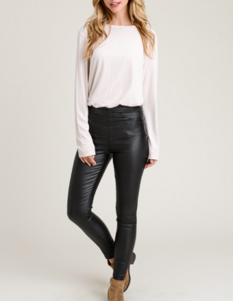 Magic Hour Faux Leather Leggings in Black
