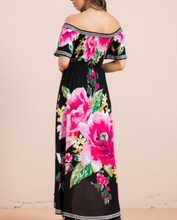Load image into Gallery viewer, Midnight Pink Flowers Dress