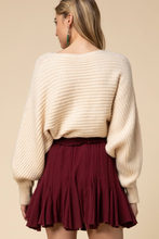 Load image into Gallery viewer, Merlot Ruffle Skort