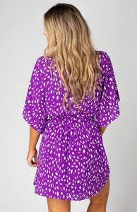 Buddylove - purple tie front dress