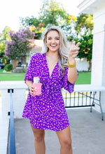 Load image into Gallery viewer, Buddylove - purple tie front dress