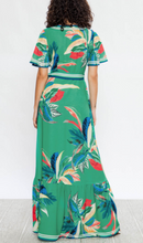 Load image into Gallery viewer, Field of Greens Wrap Maxi Dress