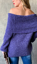 Load image into Gallery viewer, Cozy and Warm Purple Sweater