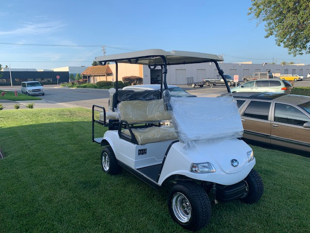 Brand New 2019 Evolution Classic 4 Person Electric DC Golf Cart - White
