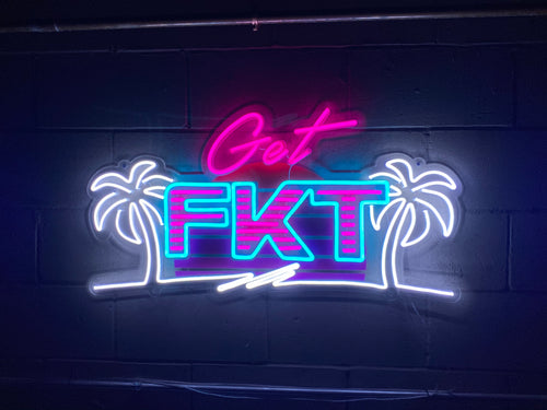 Get FKT - Miami style LED sign