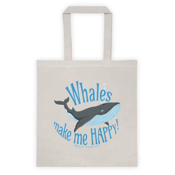 Whales make me HAPPY! (Maui, Hawaii) Tote bag