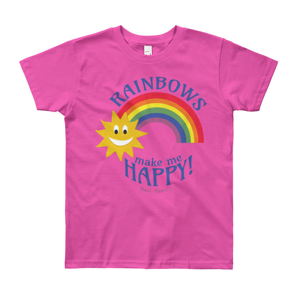 Rainbows make me HAPPY! (Maui, Hawaii) Youth Short Sleeve T-Shirt