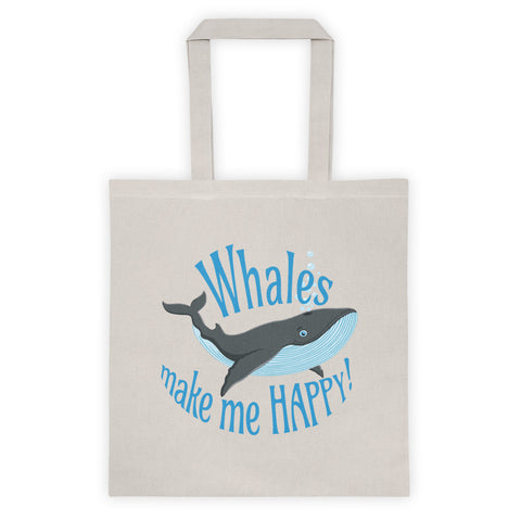 Whales make me HAPPY! Tote bag