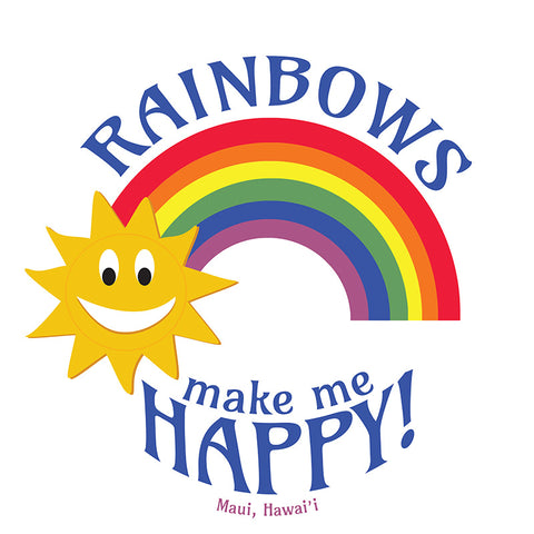 Rainbows make me HAPPY! (Maui, Hawaii) Sticker