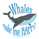 Whales make me HAPPY! (Maui, Hawaii) Sticker