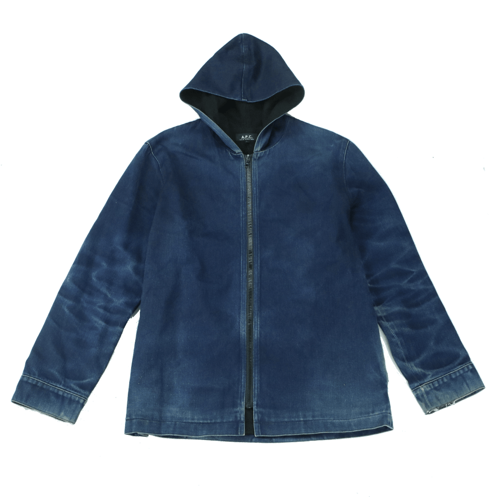 A.P.C. DENIM HOODED PARKA (S) - Thrifty Towel