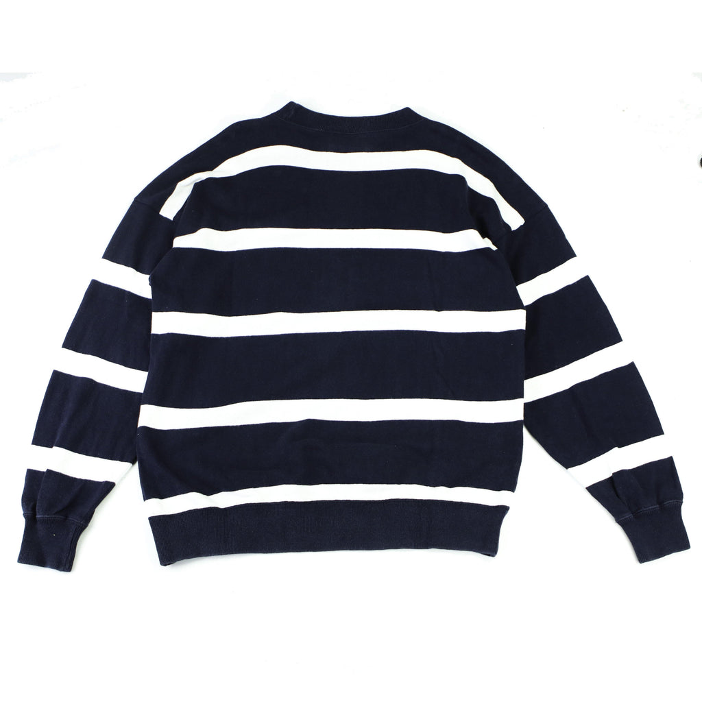 BENETTON STRIPED CREW SWEAT - Thrifty Towel
