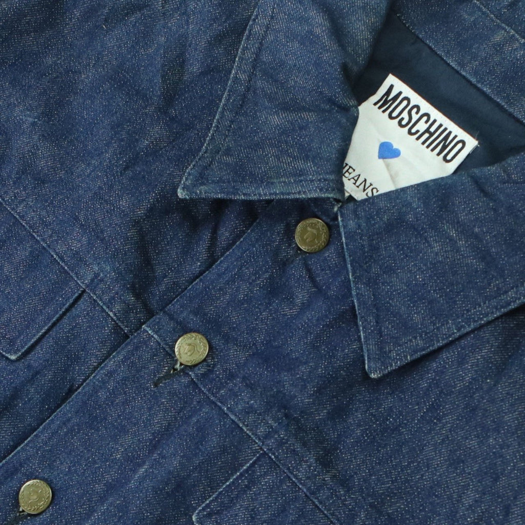 MOSCHINO JEANS DENIM JACKET (M) - Thrifty Towel
