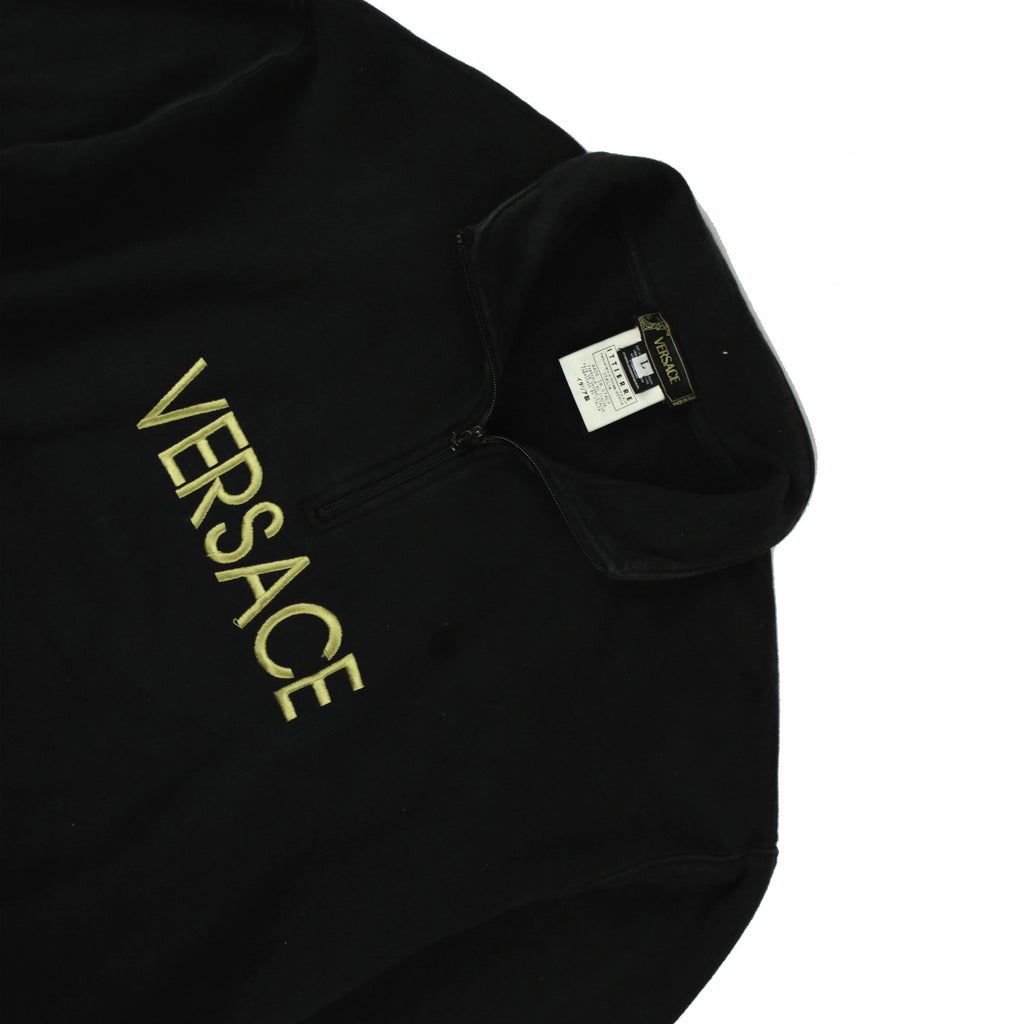 VERSACE LOGO 1/4 ZIP - Thrifty Towel