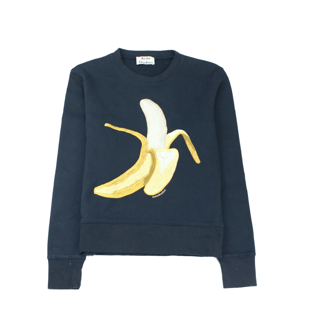 ACNE STUDIOS CASEY BANANA CREW SWEAT - Thrifty Towel