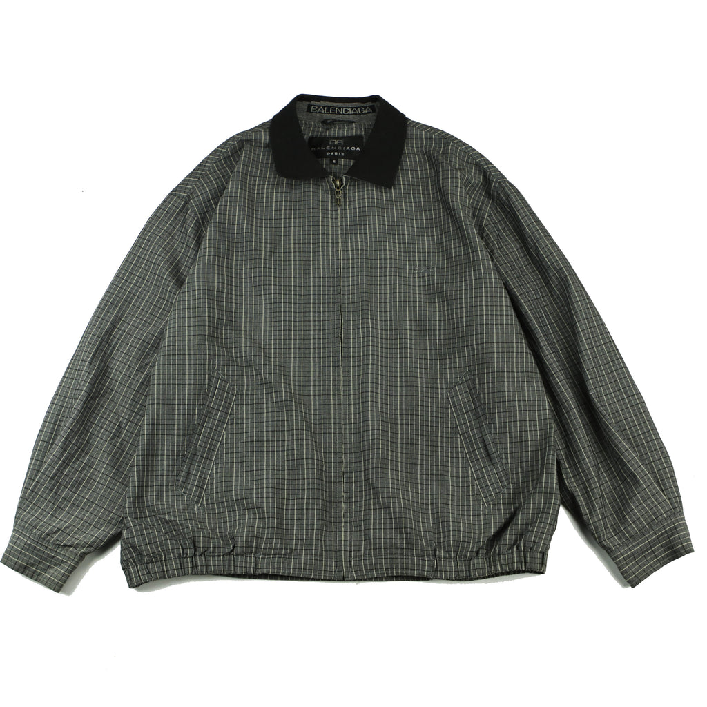 BALENCIAGA TARTAN PLAID HARRINGTON JACKET (L) - Thrifty Towel