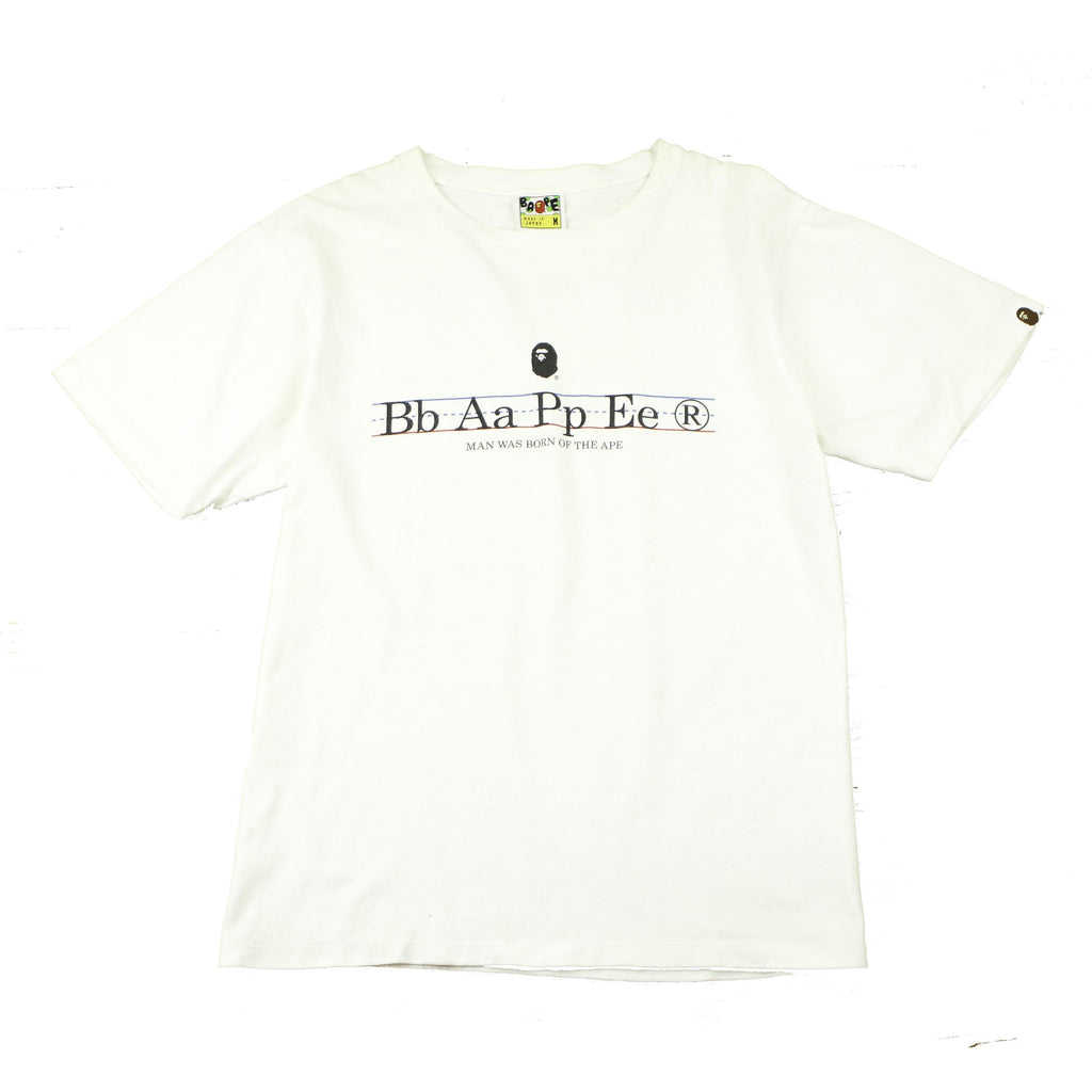 A BATHING APE SPELLING TEE (M) - Thrifty Towel