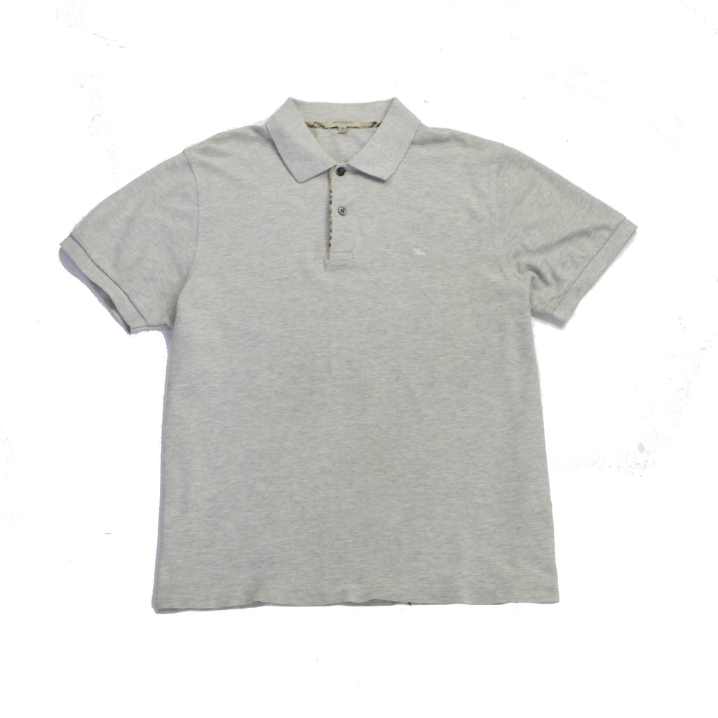 BURBERRY LONDON GREY KNIGHT POLO (XL) - Thrifty Towel