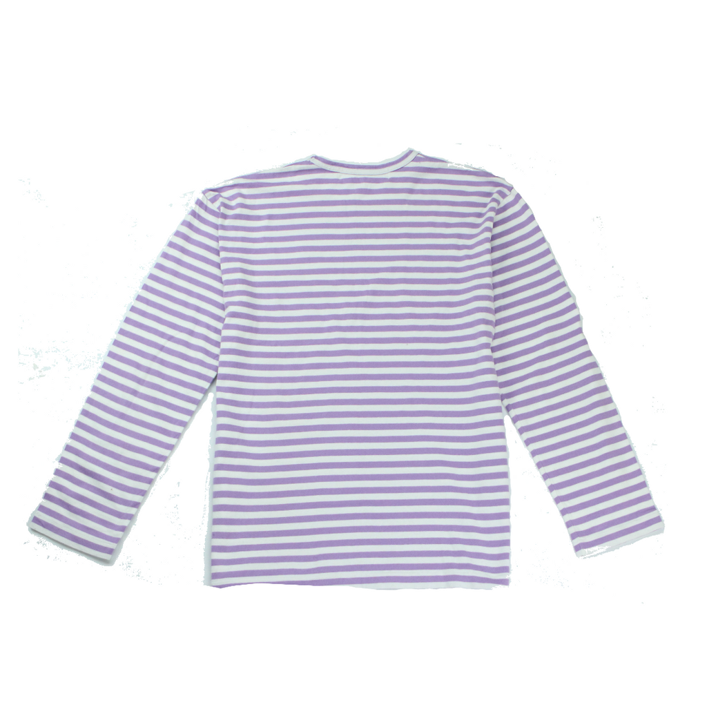 Comme des Garcons Play Little Red Heart Long Sleeve Stripe Tee (XL) - Thrifty Towel