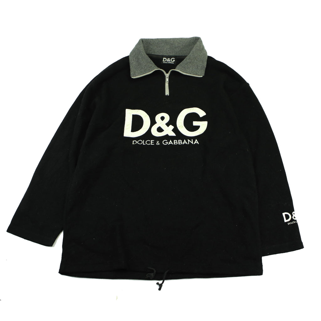 VINTAGE BOOTLEG DOLCE AND GABBANA QUARTER ZIP - Thrifty Towel