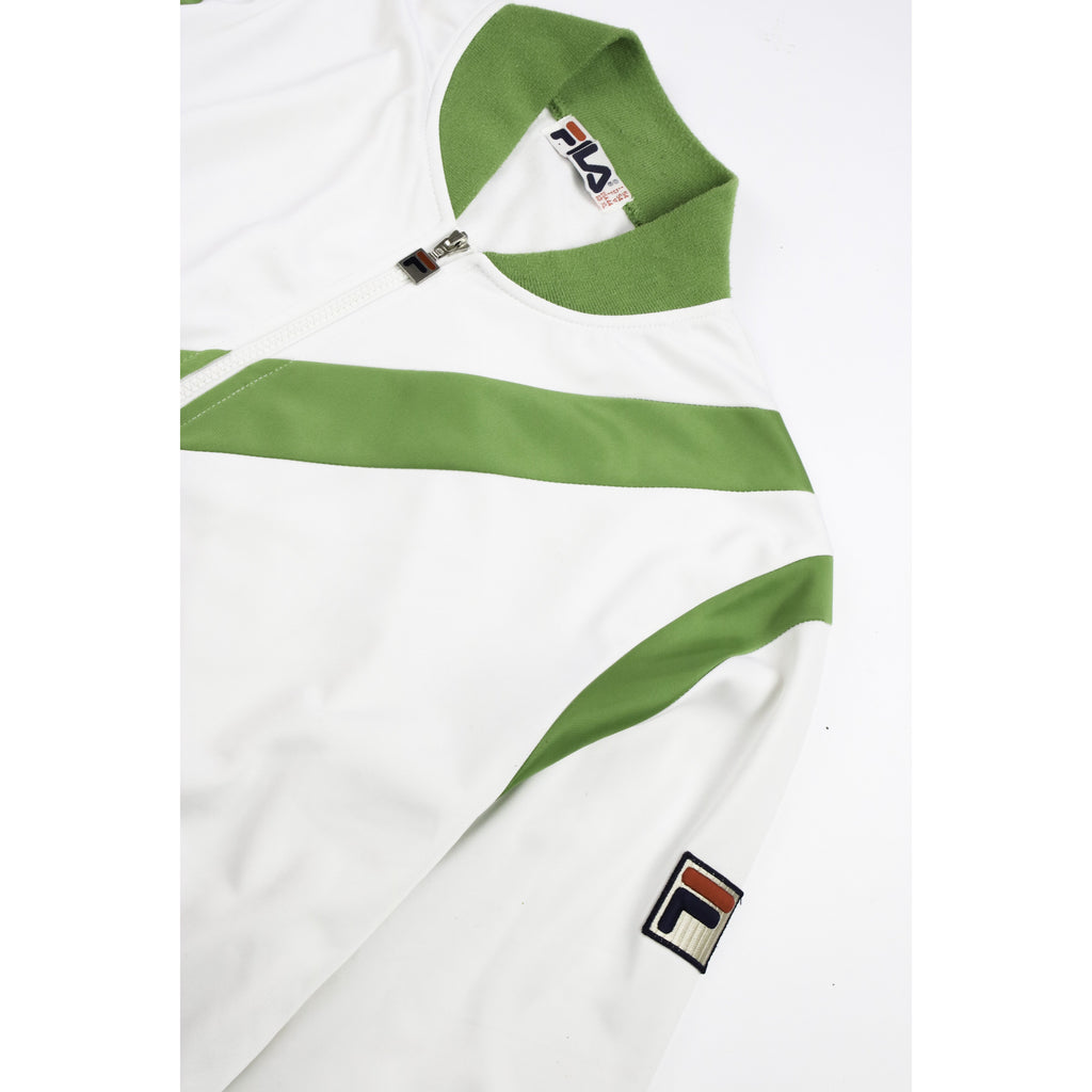 FILA 1980s STRIPED TRACK JACKET (XL) - Thrifty Towel