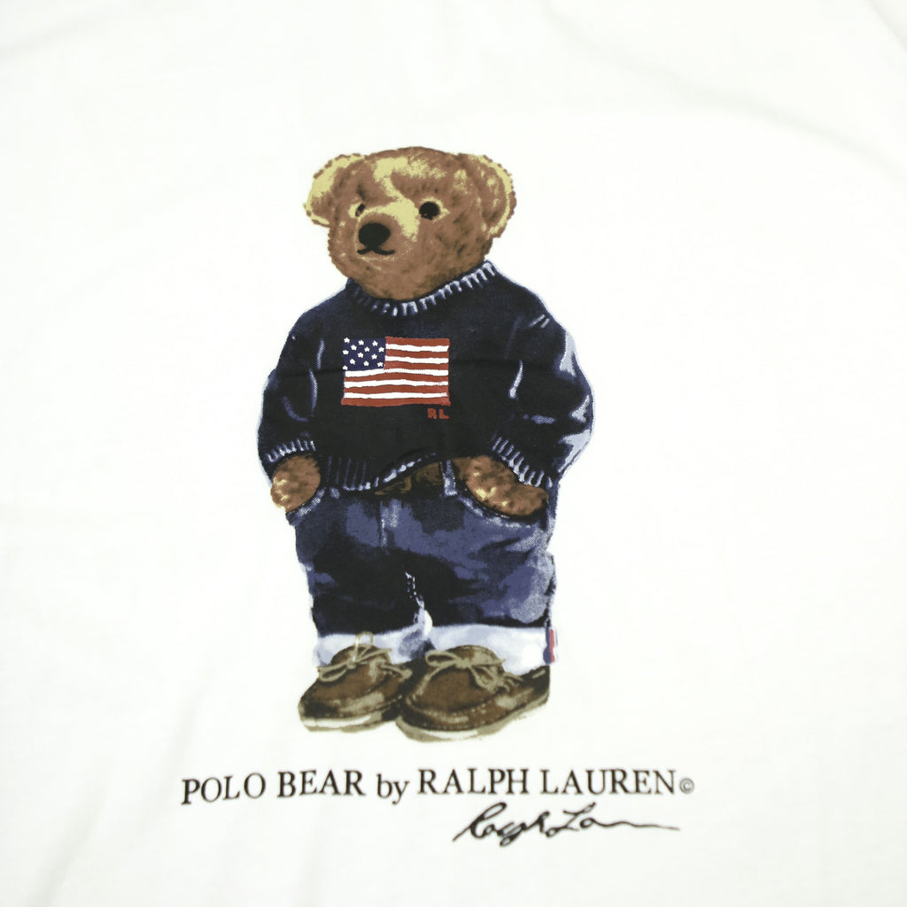 POLO RALPH LAUREN FLAG BEAR TEE (XXL) - Thrifty Towel