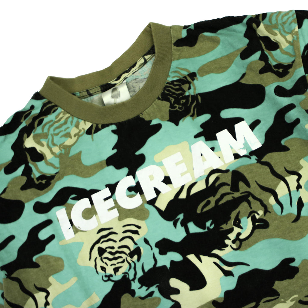 ICE CREAM TIGER CAMO TEE - Thrifty Towel