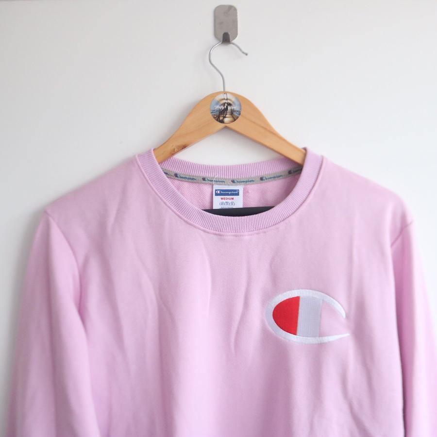 Vintage Champion Pink Logo Sweater(M