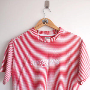 Vintage Rare 90s Guess Jeans Stripe Tee (S)