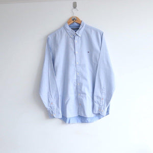 Vintage Tommy Hilfiger Chambray Flag Embroidery Shirt (M)
