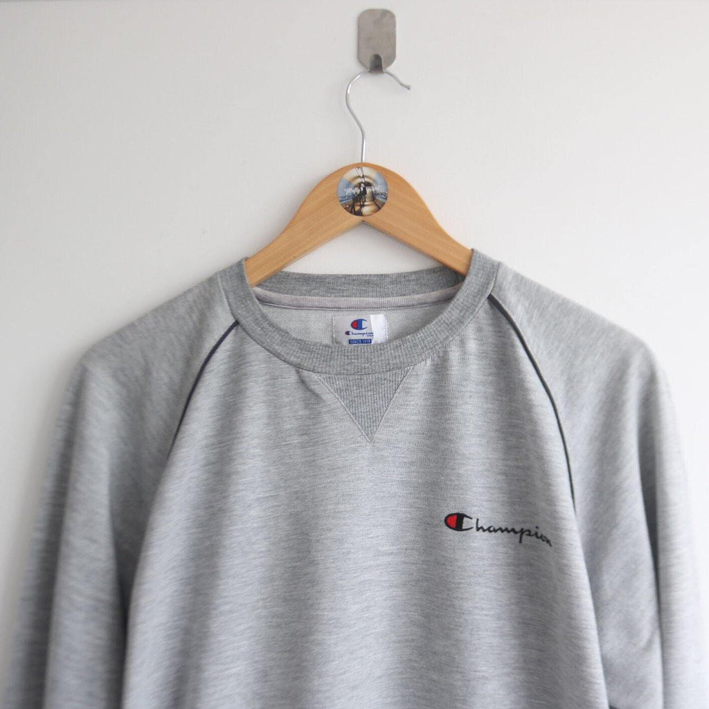 Vintage Champion Embroided Marl Spellout (M)
