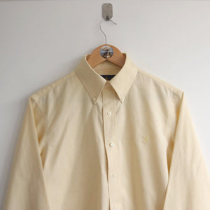 Vintage Ralph Lauren Oxford Shirt Purple Tag Yellow (M)