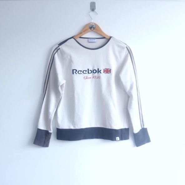 Vintage Reebok 80s Sport Embroided Sweater (XS)