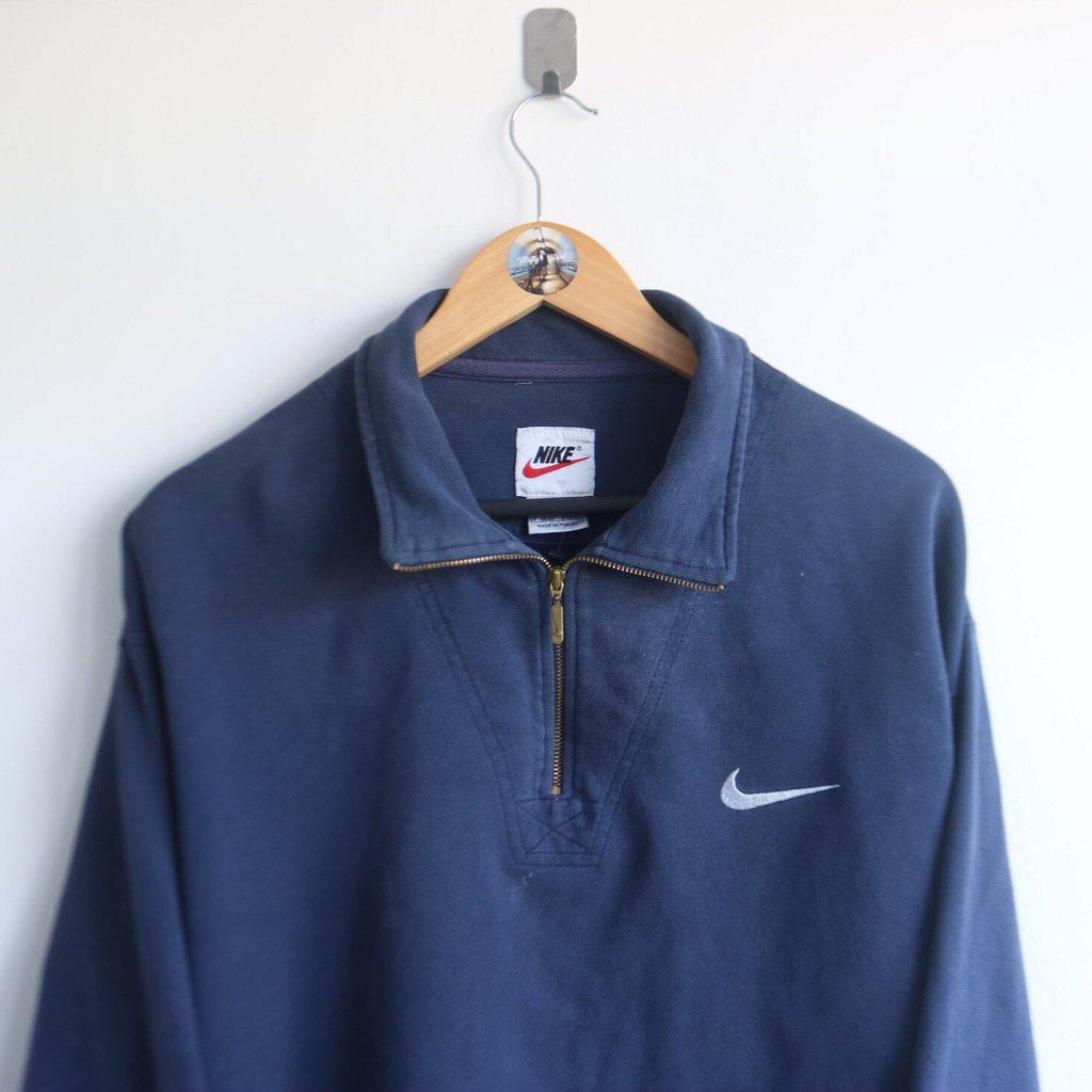Vintage Nike Essential Embroided 1/4 Zip Up (L)