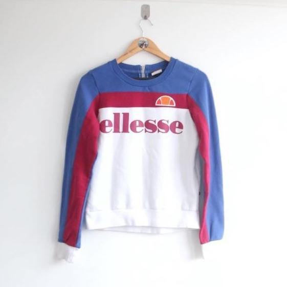 Vintage Ellesse Spellout Coloured Sweater (S)