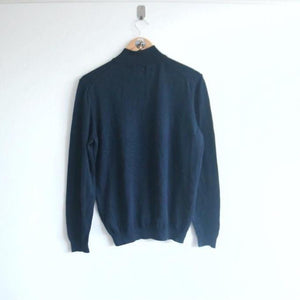 Vintage Hugo Boss knitted Spellout 1/4 Zips (M)